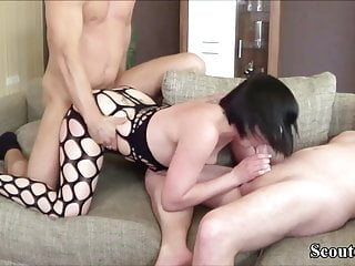 REAL GERMAN young KIMBERLY in HOMEMADE THREESOME FUCK