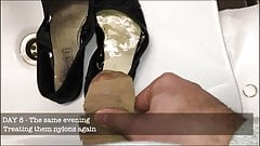 Office chick balerinas and heels abused II - She wears them!
