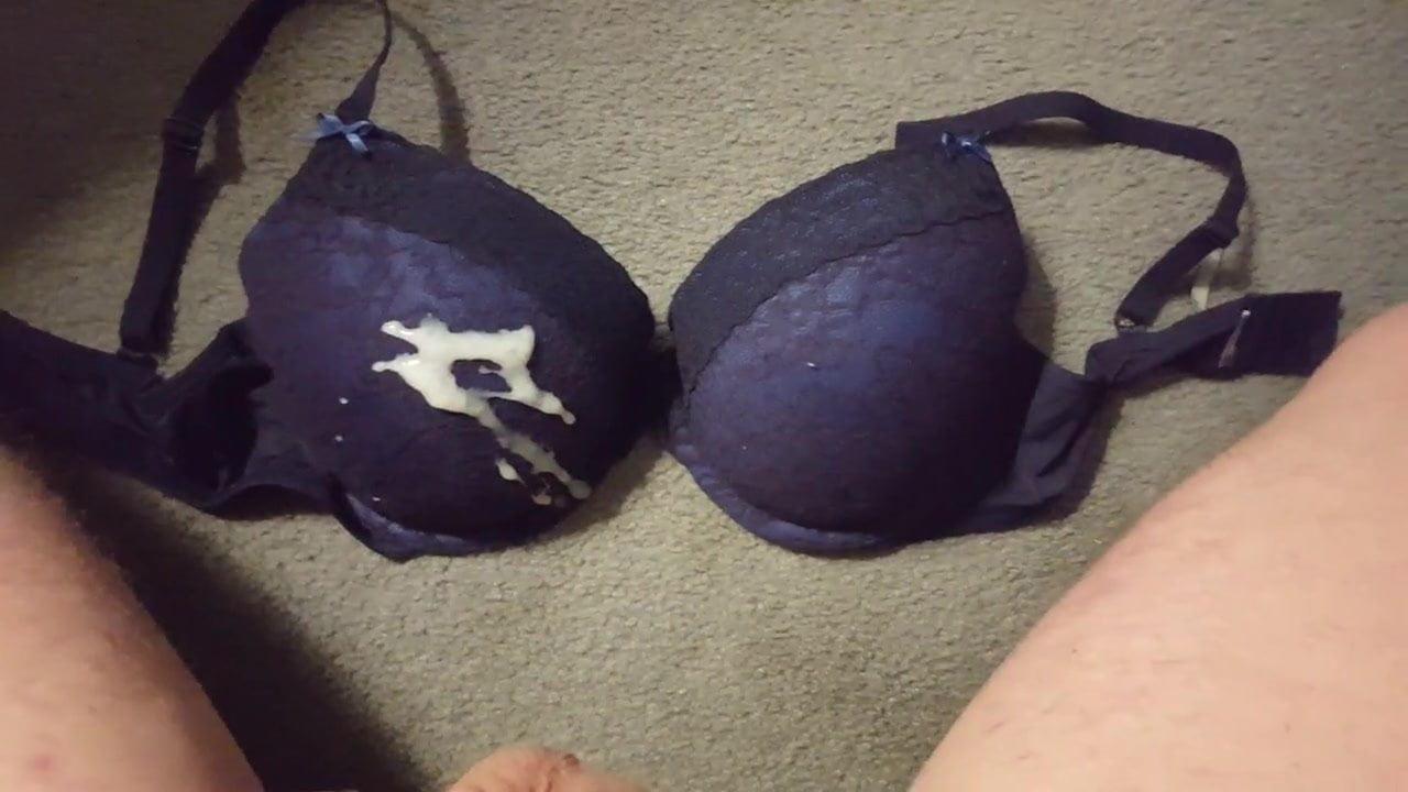 Cum on hand bra #11