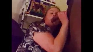 Amateur Bbw wife sucking, fucking, squirting on bbc pt2