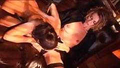 British slut Kelle Marie in a lesbian scene with Zoe