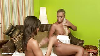 Orgasmic Acheivers - lesbian scene with Jessamine and A