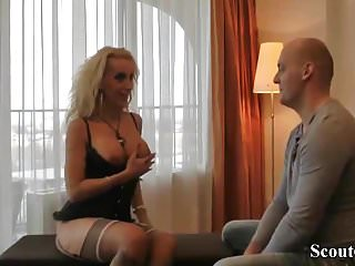 German Prostitute with Big Tits Fuck with Stranger in Hotel
