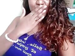 sexy black girl doing cute selfies