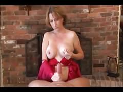 hot mom gives bj and hj and gets all the cum