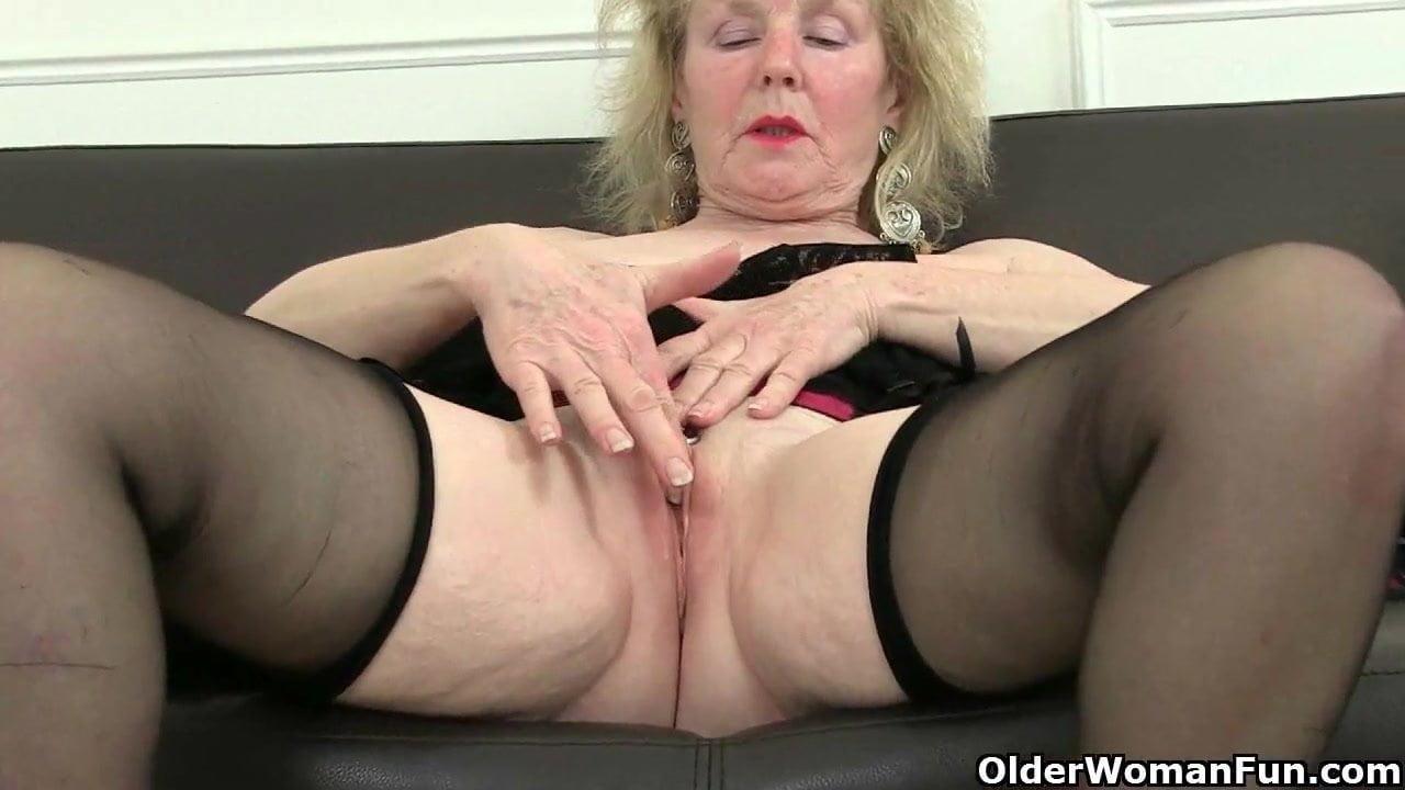 English grannies are hooked on masturbation