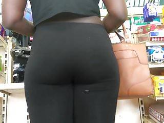 Ebony Ass in Holy Black Leggings