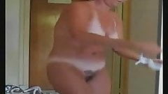 Enjoy my cute hairy mom fully nude. Hidden cam