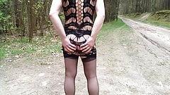 flashing nude