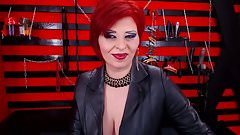 Seductive Red Head Dom Milf Smoking On Cam In Boots