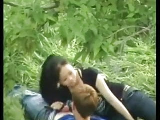 Russian Chinese couple get filmed by his Friends