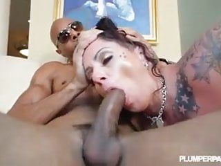 Tattooed BBW Beauty Erika Xstacy loves BBC