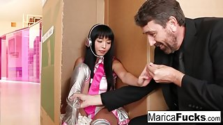 Sex robot Marica gets anally charged by Steve Holmes