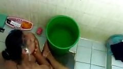 Bath time for indian aunty