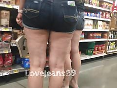 PAWG in Tight Jean Shorts