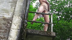BustyBrooke - Play and Pee at the abandoned factory