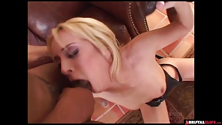 Blonde slut absolutely crazy for BBC