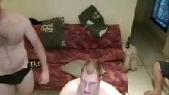 3 guys naked fun dancing