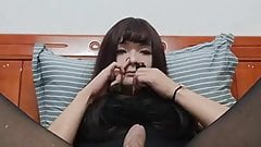 Asian Teen CD Anal With Toys and Nylons