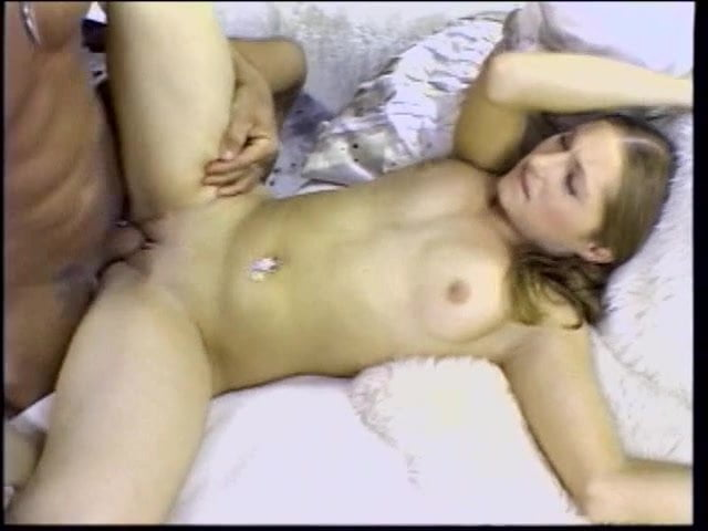 Gorgeous young brunette gets mouth filled with hard cock