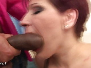 Black cock loving MOM gets her daily creampie