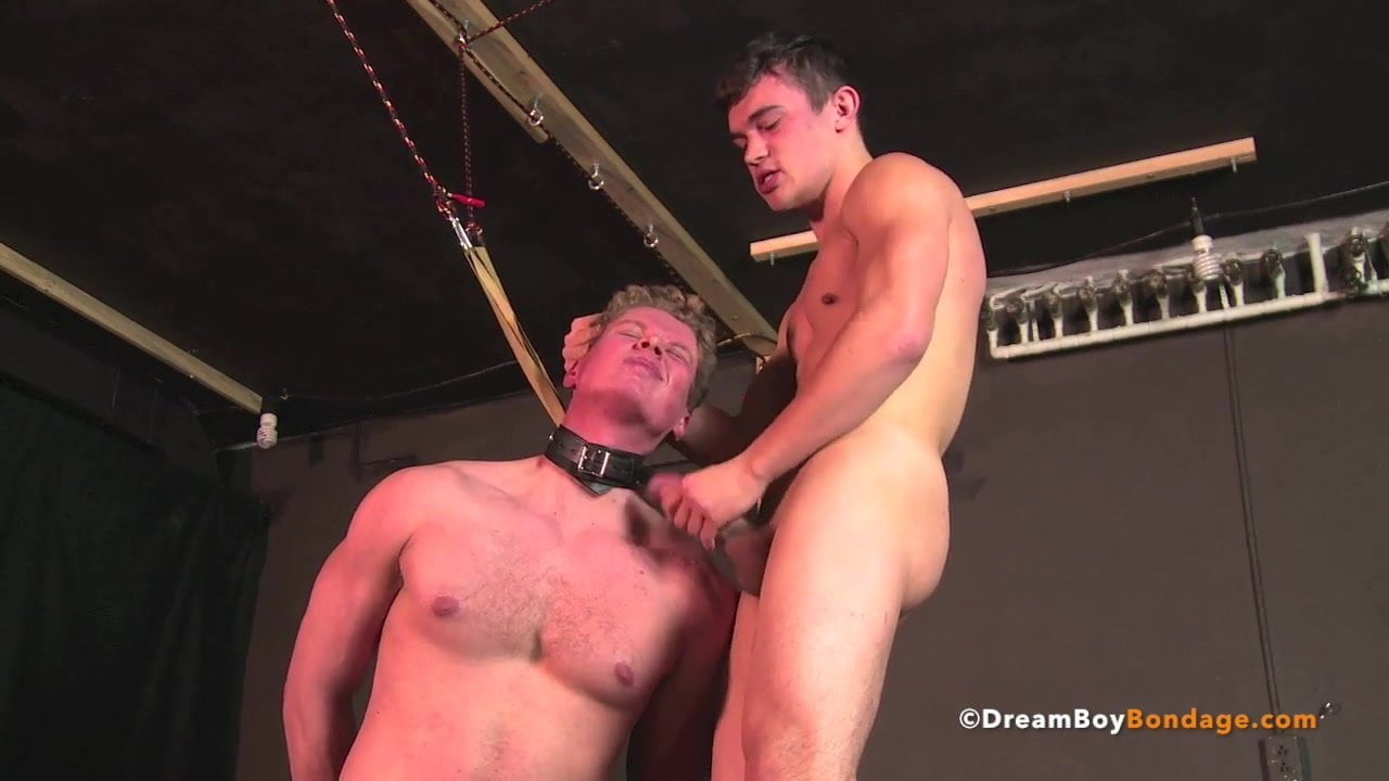 Bound guy gets dick served