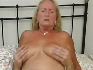 chubby mature in bed fucks with young man