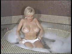 Danni Ashe At Home Taking A Bubble Bath