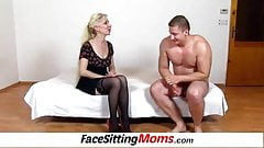 Facesitting with hairy pussy Milf Maya