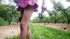 aurelia schoolgirl wank outdoor jerk