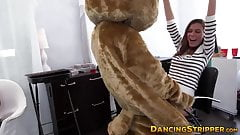 Amateur babes sucking dick at wild stripper party