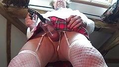 transvestite schoolgirl lingerie pumping bdsm dildo 23