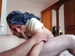 Hijab Turkish Mom Fuck and Blowjob Kopftuch
