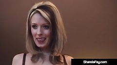 Canadian Cougar Shanda Fay Crams Her Creamy Cunt With Dildo!
