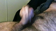 Swollen thick cock spurting