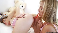 Young sluts feeding their ass holes