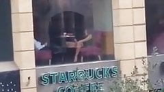 Fingering At Starbucks