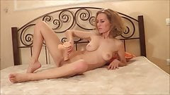 Kinky mom in stockings can't stop masturbating on camera