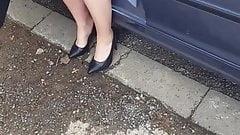 Copine sort de voiture