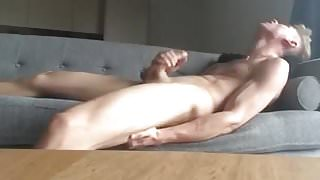 Athletic guy cumshot