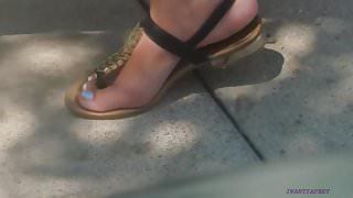 Candid feet on lunch break pt4 final vid