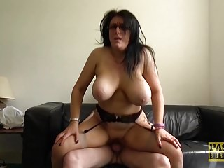 Busty mature Sabrina Jade enjoys to be fucked roughly