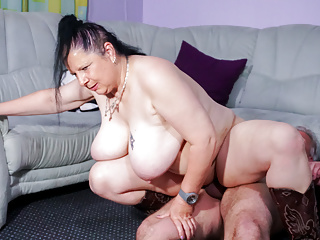 Tattooed German Housewife Gets Cum On Tits In Amateur Fuck