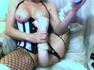 Sexy Mature Fucking Huge Dildo