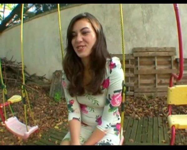 French teen Tiffanie fucked in the garden