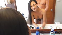 beautiful ladyboy Pie gets fucked while getting ready