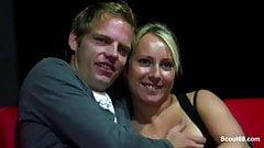 Two german Amateur Couples start Fuck in Pornocinema