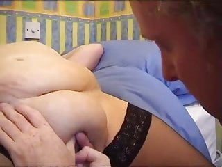 Bbw woman of a rental agency visits an house