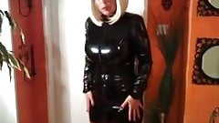 milf in rubber catsuit and pvc boots