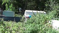 transvestite sissy outdoor anal toys garden lingerie scholgi